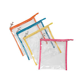 Quart Size Zip Pouches Set of Four