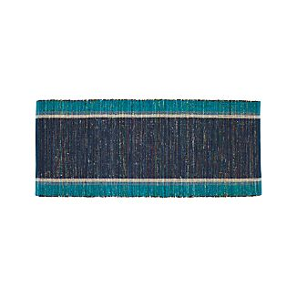 Quentin Blue Cotton 2.5'x6' Rug