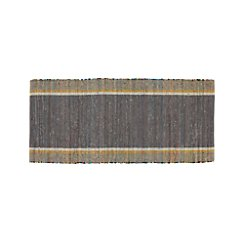 Quentin Grey Cotton 2.5'x6' Rug