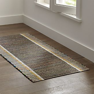 Quentin Grey Cotton 2.5'x6' Rug Runner