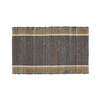 "Quentin Grey Cotton 30""x50"" Rug"