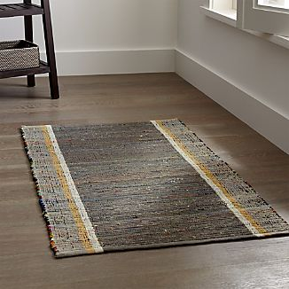 Quentin Grey Cotton Rug