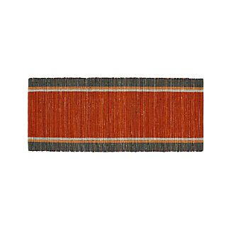 Quentin Orange Cotton 2.5'x6' Rug Runner