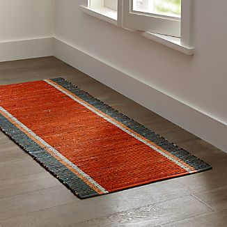 Quentin Orange Cotton 2.5'x6' Rug