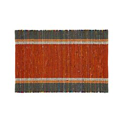 Quentin Orange Cotton 2'x3' Rug