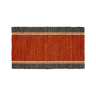 "Quentin Orange Cotton 30""x50"" Rug"