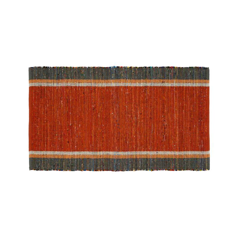 """Quentin Orange Cotton 30""""x50"""" Rug"""