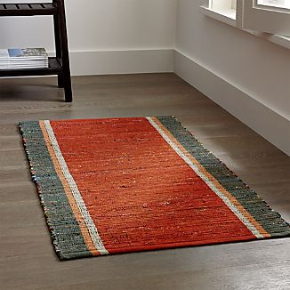 Quentin Orange Cotton Rug