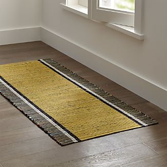 Quentin Yellow Cotton 2.5'x6' Rug