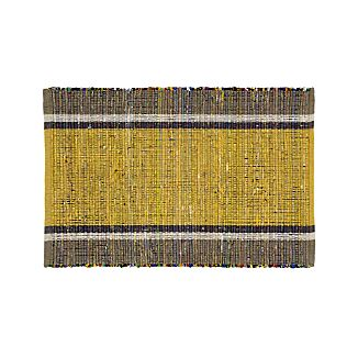 Quentin Yellow Cotton 2'x3' Rug