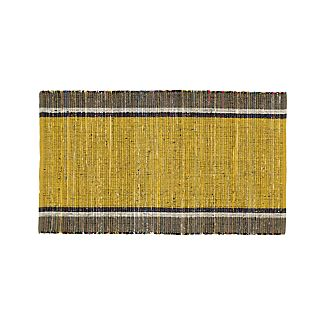 "Quentin Yellow Cotton 30""x50"" Rug"