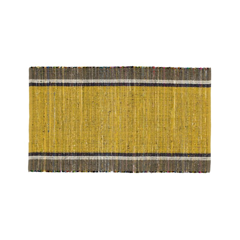 """Quentin Yellow Cotton 30""""x50"""" Rug"""