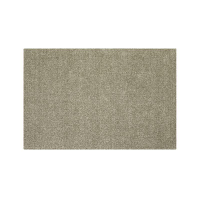 Quinn Taupe Wool 6'x9' Rug