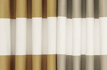 Metallic striped curtains