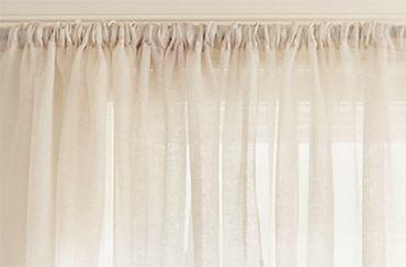 Sheer beige curtains