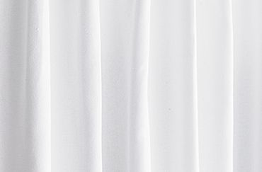 Solid white curtains