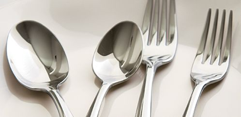 Silverware spoons and forks