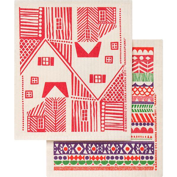 Set of 2 Marimekko Raanu Dishcloths