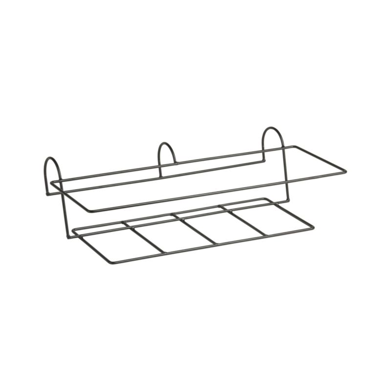 "Optional iron hook for our Zinc Rectangular Rail Planter easily affixes to railings or fences up to 2"" wide. Finish will weather naturally.<br /><br /><NEWTAG/><ul><li>Welded iron rod rail hook with powdercoat finish</li><li>Made in Vietnam</li></ul>"