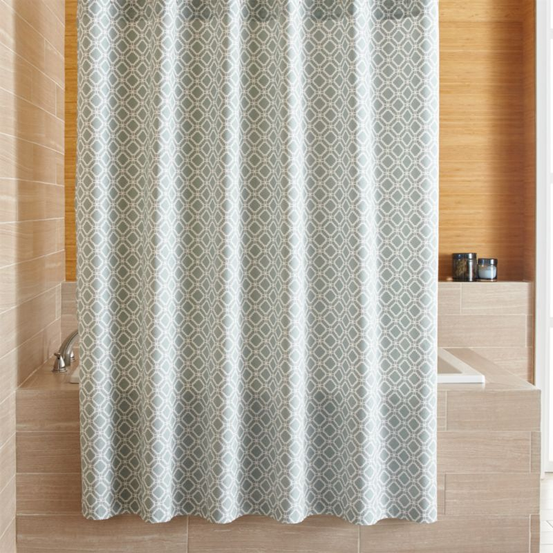 raj blue shower curtain crate and barrel. Black Bedroom Furniture Sets. Home Design Ideas