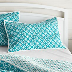 Raj Reversible Bright Blue Standard Sham