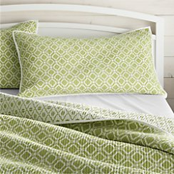 Raj Reversible Green King Sham