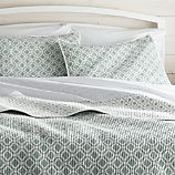Raj Reversible Light Blue Full/Queen Quilt