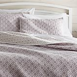 Raj Reversible Purple King Quilt