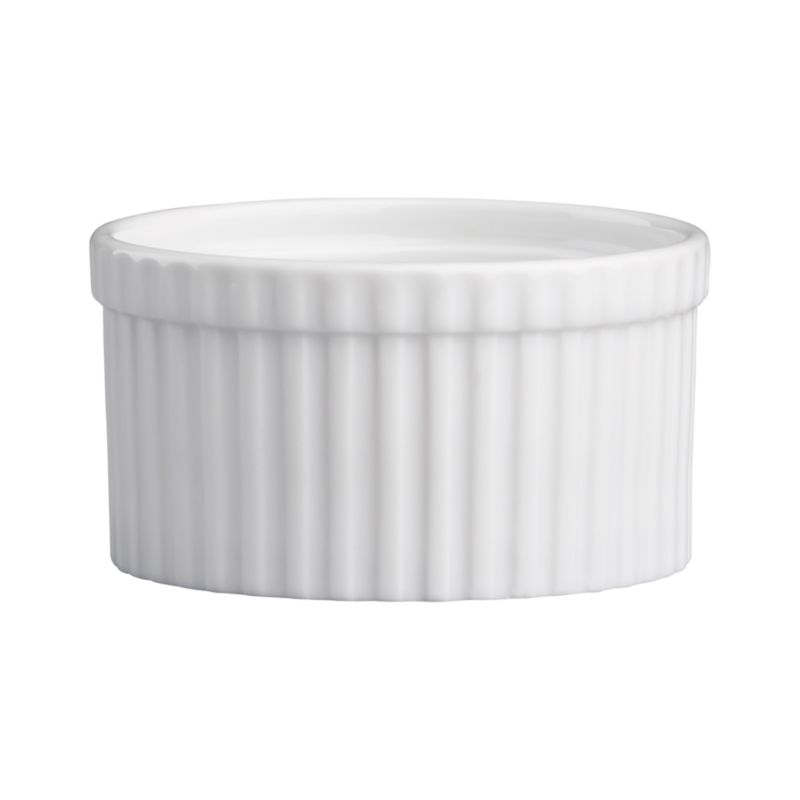 Durable, ribbed white porcelain adds classic style to a variety of foods. Small ramekin can be used to make individual desserts, serve snacks or pre-measure cooking ingredients—the uses are endless.<br /><br /><NEWTAG/><ul><li>Durable white porcelain</li><li>Oven to table</li><li>Dishwasher-, microwave-, oven-, broiler- and freezer-safe</li><li>Made in Vietnam</li></ul>