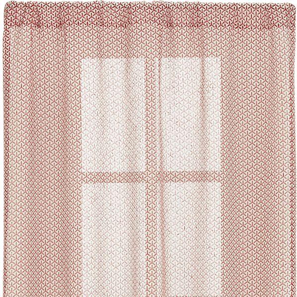 Rasta Persimmon Sheer 48x96 Curtain Panel