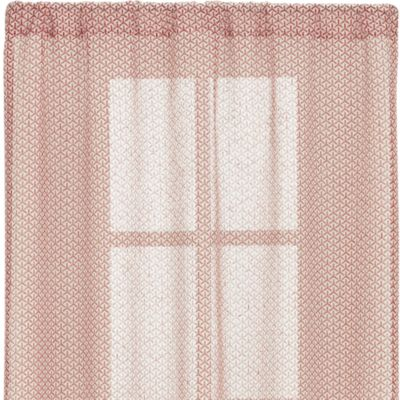 Rasta Persimmon Sheer 48x96 Curtain Panel