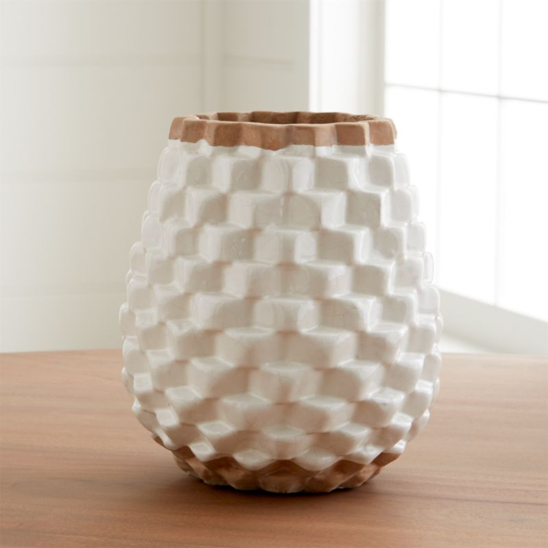 Rati White Textured Vase Crate And Barrel