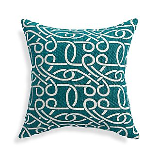 """Raya Azure Blue 18"""" Pillow"""