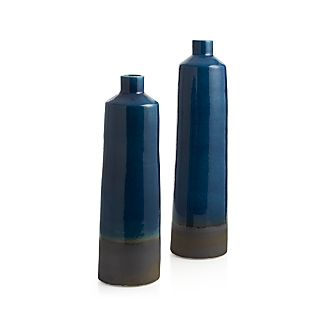 Reactive Blue Small Bottle Vase