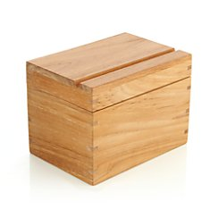 Teak Recipe Box