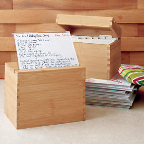 Recipe Box with Divider Cards - Recipe Box...