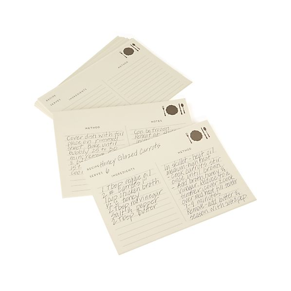 Set of 25 Recipe Cards