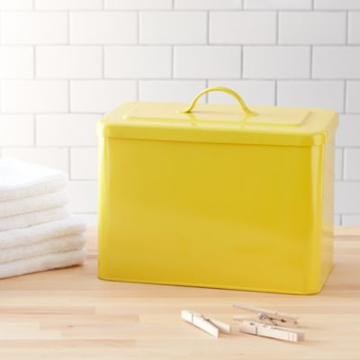 Rectangular Yellow Bin with Lid