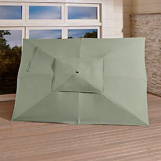 Rectangular Sunbrella ® Fern Outdoor Umbrella Canopy