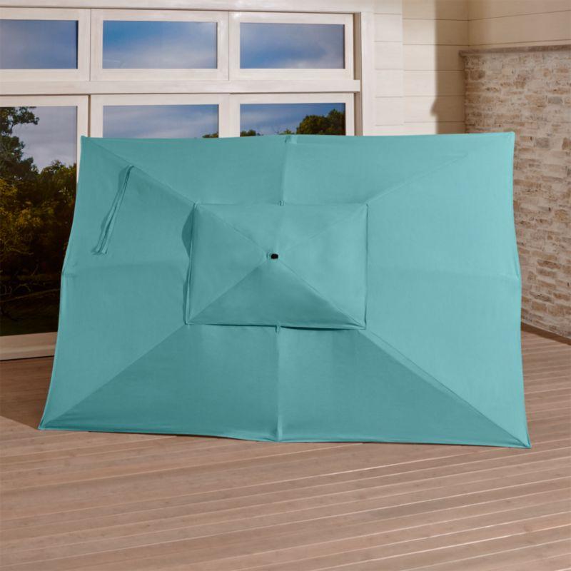 Rectangular Sunbrella ® Mineral Blue Umbrella Canopy