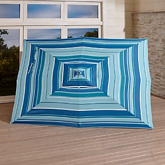 Rectangular Sunbrella ® Seaside Striped Outdoor Umbrella Canopy