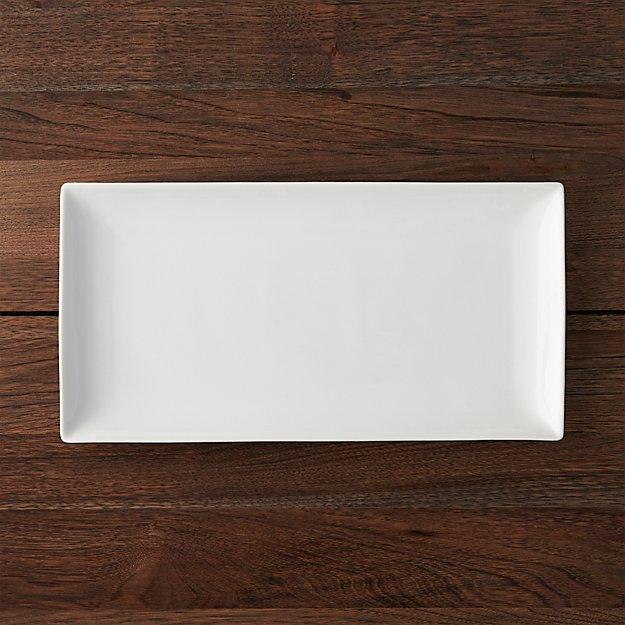 White Recantgular Platter Crate And Barrel