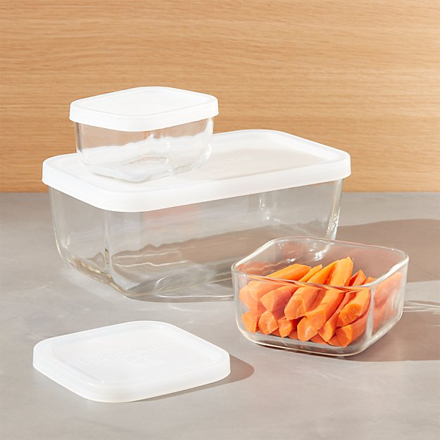 3-Piece Rectangular Storage Container Set