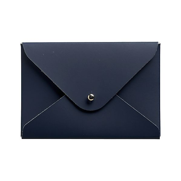 Recycled Leather Navy Cardholder