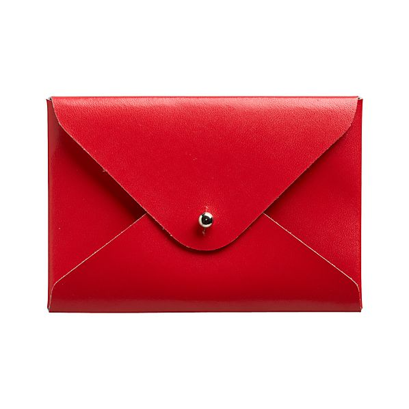 Recycled Leather Red Cardholder