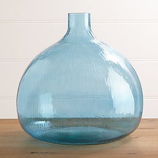 Recycled Glass Large Vase