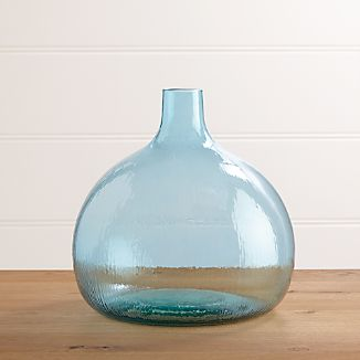 Recycled Glass Small Vase