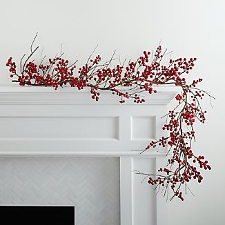 "Branches laden with clusters of fresh red berries winds festive forest appeal on banisters, mantels or tabletops. This lifelike garland is ideal for seasonal swagging with flexible ""branches"" that can be formed to suit their purpose."