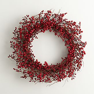 Red Berry Artificial Wreath