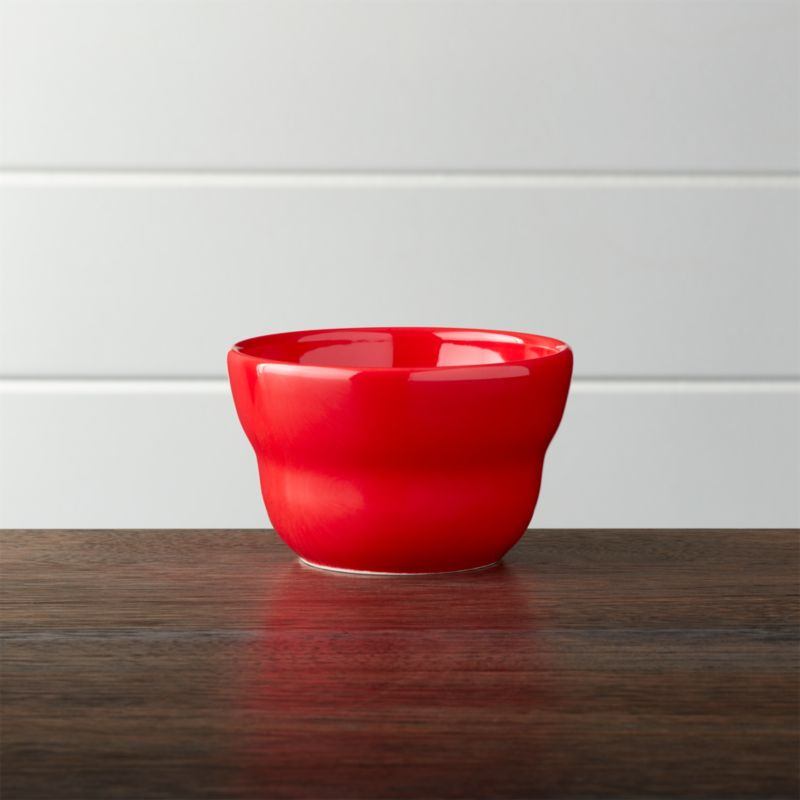 """Red 4"""" Bowl"""